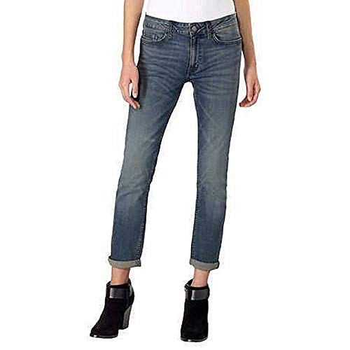 Calvin Klein Womens Jeans Slim Boyfriend Rolled Cuff Classic Fit, Tony Blue (14)