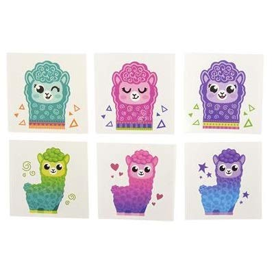 "288 ALPACA TATTOOS! 2"" Inch ADORABLE Colorful Temporary Tattoos- Great for Birthday Parties- Favors-Prizes-Classrooms-Easter Eggs- Stuffers & More!"