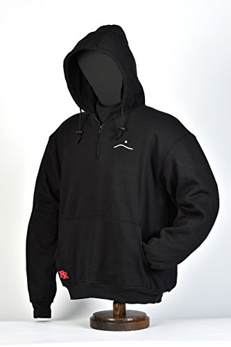12 Ounce Pullover - Flame Resistant Sweater, Pullover 12 Ounce FR Hoodie, Half Zipper Front And Kangaroo Pockets ( LARGE ) )