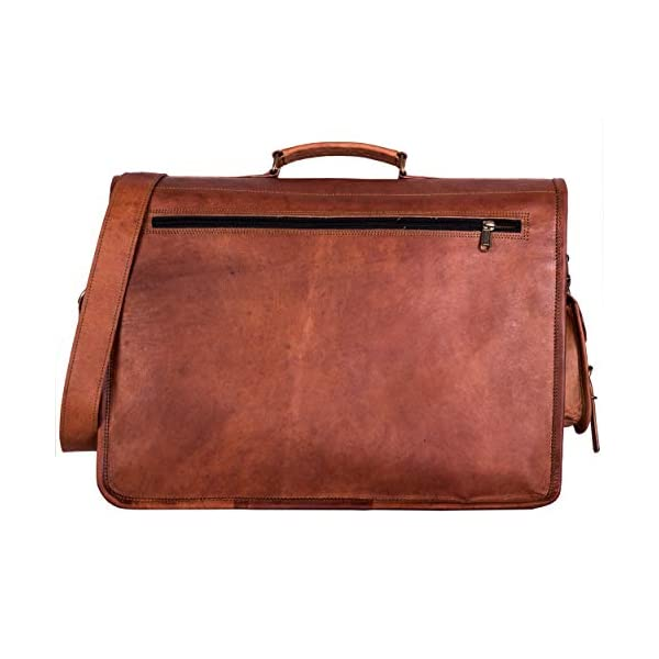 Komals-Passion-Leather-Leather-Briefcase-for-Men-and-Women-18-inch-Handmade-Leather-Messenger-Bag-for-Laptop-Best-Computer-Satchel-School-Distressed-Bag-Four-Pocket