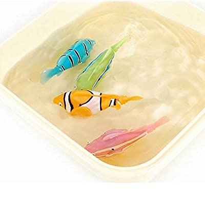 Swimming Robot Fish Activated in Water Robotic Fish Electric Turbot Clownfish Battery Powered Electric Swimming Diving Floating Robo Fish Water-Activated Bathtub Toy for Children Kids Toddler: Toys & Games