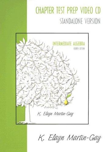 Intermediate Algebra: Chapter Test Prep
