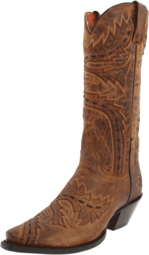 Dan Post Women's Sidewinder Western Shoe,Tan,6.5 M US