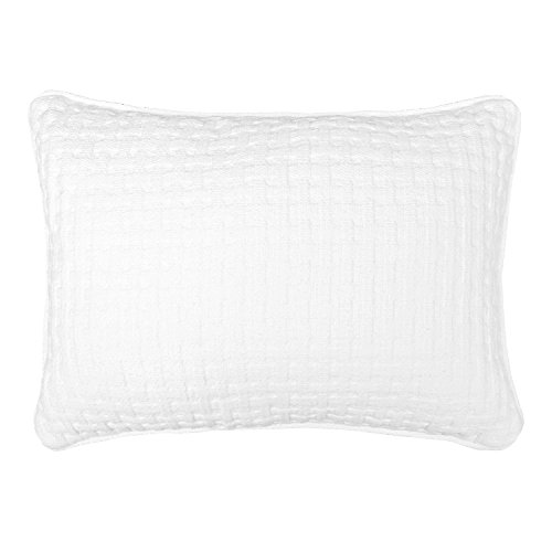 Veratex The Payton Collection Made in the U.S.A. 100 Cotton Modern Decorative Throw Pillow, Ivory