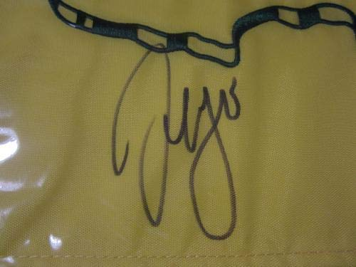Sergio Garcia PGA signed autographed 2017 Masters yellow pin flag COA JSA Certified Autographed Pin Flags