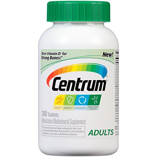Centrum Adult Multivitamin / Multimineral Supplement Tablet, Vitamin D3 (200 Count)