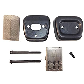 Amazon.com : Husqvarna Craftsman Poulan Chainsaw Muffler Exhaust Kit 530069415 : Patio, Lawn & Garden