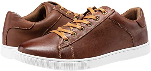Pictures of JOUSEN Men's Leather Fashion Sneakers Business Classic Leather Fashion Sneaker 3