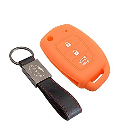 kaser Funda Silicona para Kia Hyundai – Carcasa Llaveros 3 Botones para Coche i30 ix20 ix35 Tucson Santafe Cover Case Protección Remoto Mando Auto ...