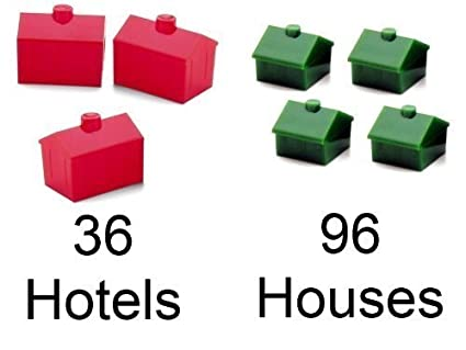 Amazoncom 3 Pack Monopoly House And Hotel Pack 96 Houses 36