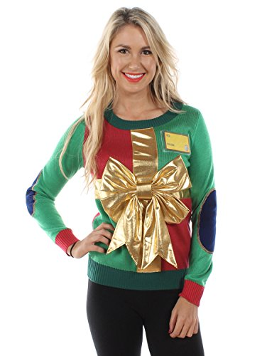 Women's Christmas Present Sweater: Large