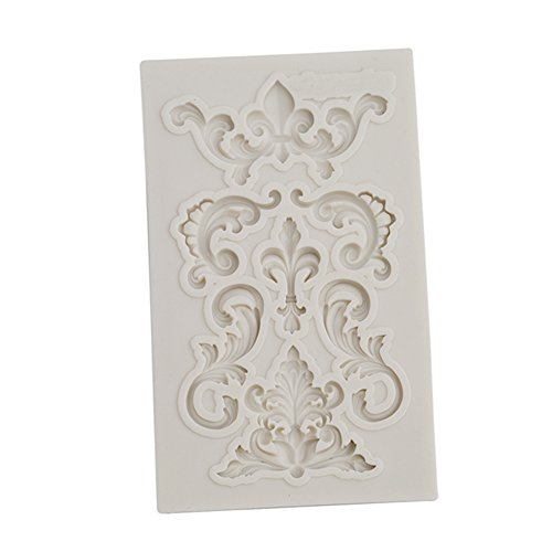 LALANG Baroque Sculpted Flower Lace Silicone Fondant Mould Cake Decor Sugar - Baroque Flower