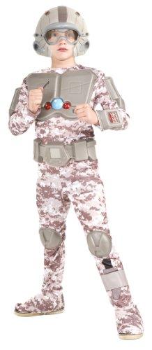 Rubie's Deluxe Space Warrior Deluxe Costume - Medium (Deluxe Space Warrior Costumes)
