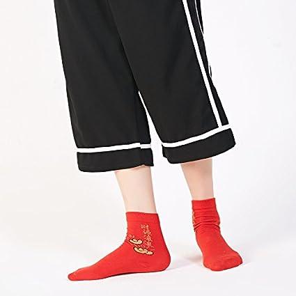 Los calcetines rojos girls Cotton Socks en esta vida, pisar el villano niña calcetines calcetines