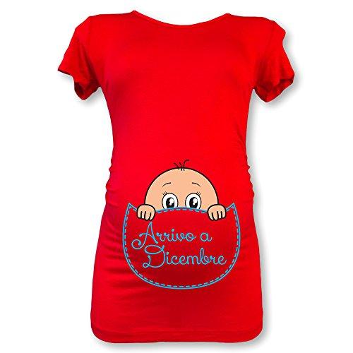 Dicembre Natale Shirt Babloo in Maglia Premaman Maschietto Rossa a Arrivo 47Agq0
