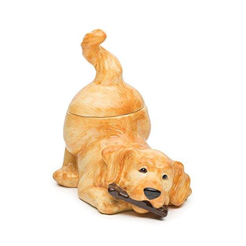 Golden Retriever Ceramic Cookie Jar<br>Big Sky Carvers <br>11.5W x 11H Inches