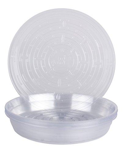 Curtis Wagner VL-08-10PK 715007143352 10 Piece Clear Vinyl Plant Saucer, Round