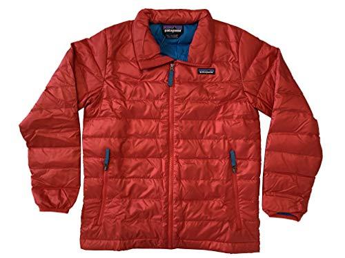 Patagonia Boys Down Sweater Full Zip Coat Jacket (Fire Red, Medium (10))