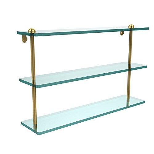 Allied Brass RC-5/22-PB Triple Glass Shelf Polished Brass by Allied Brass