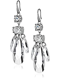 Womens Crystal Statement Drop Earrings