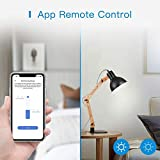 Smart Dimmer Switch Single Pole - meross Smart WiFi Light Switch for Dimmable LED, Compatible with Alexa, Google Assistant, Neutral Wire Required, Remote Control Schedule, No Hub Needed, 4 Pack