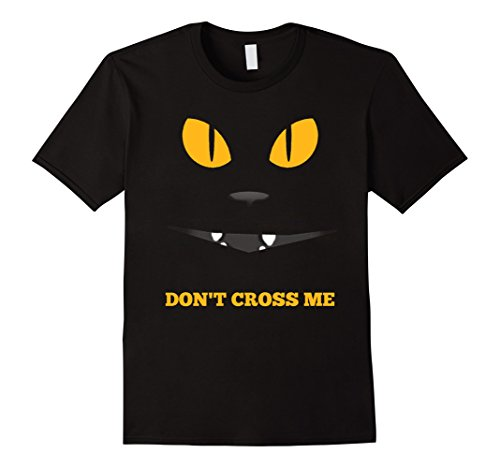 [Mens Sassy Black Cat Shirt | Funny Halloween Costume Party Tee Large Black] (Sassy Cat Costumes)