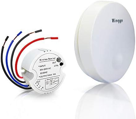 Kit de interruptor de luces inalámbricas, sin batería, sin cables ...