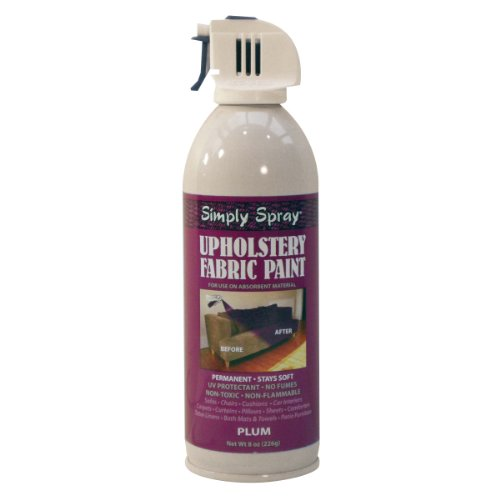Simply Spray Upholstery Fabric Paint - Non-Toxic Aerosol Paint For Use On All Absorbent Materials (Various Colours Available) (Plum) ()