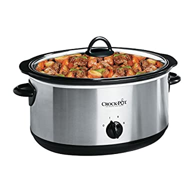 Crock-pot SCV800-S Oval Manual Slow Cooker, 8 quart, Stainless Steel