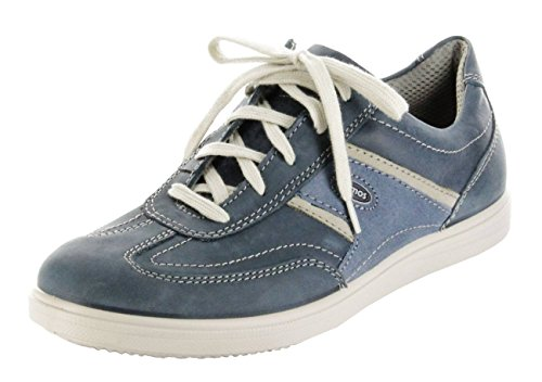 Jomos Halbschuhe Leder blau Sohle herausnehmbar Sneaker Herren 316302-144-8034 Blau