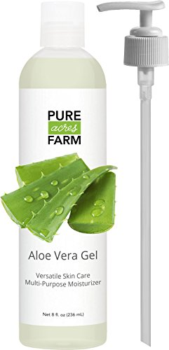 Pure Aloe Vera Gel - 8 Oz. Cold Pressed. Best For Face, Hair, And Skin. 100% Guaranteed. Best Quality For Shaving Or Makeup Remover.