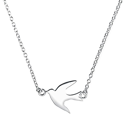 Boma Jewelry Sterling Silver Soaring Bird Necklace, 18 Inches