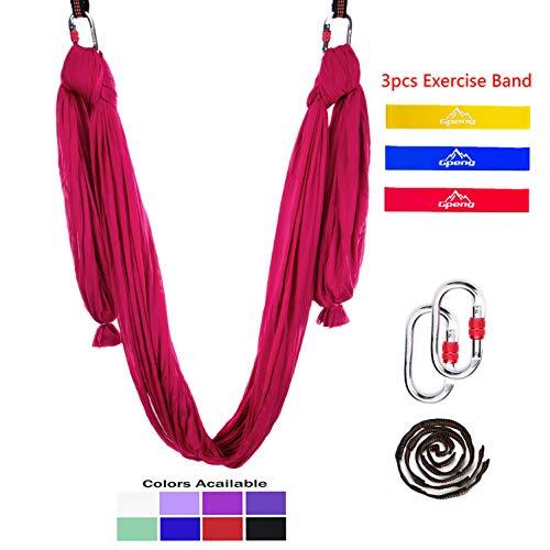 Gpeng Aerial Yoga Hammock Swing Set - Premium Aerial Silk for Antigravity, Inversion Exercises, Improved Flexibility & Core Strength