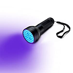 AGPtEK LED UV Flashlight Handheld Torch for Dectecting Stain, Pet Urine & Pest Scorpion Detector Money License Passort Authenticating