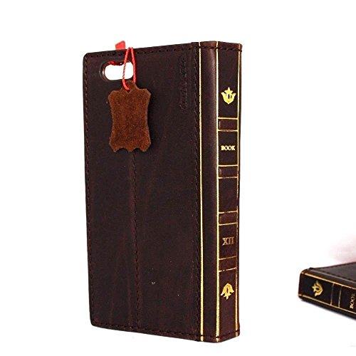 Original Vintage Leder Handmade Schutzhülle für Apple iPhone 6Plus bibly Wallet Besondere Luxus Slim Cover Retro ID
