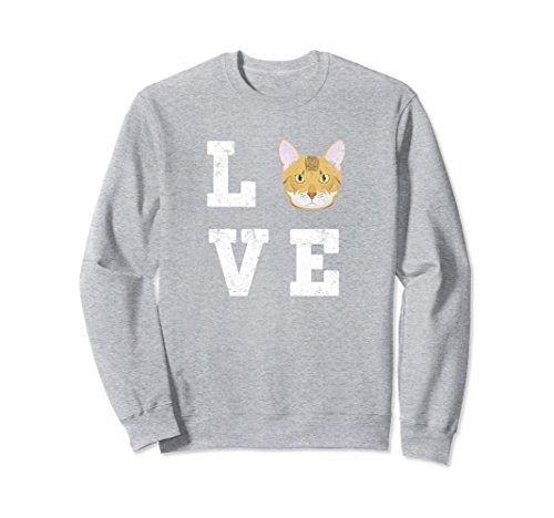 Unisex I Love My Bengal Cat Lovers Sweatshirt XL: Heather Grey