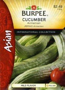 Burpee Cucumber Armenian Asian 69672 (Green) 25 Seeds
