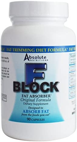 Absolute Nutrition FBlock Xtra Fat Absorber, Diet Formula, 90 Capsules