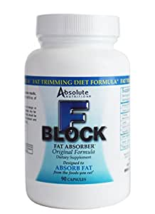 Absolute Nutrition FBlock Xtra Fat Absorber Diet Formula 90 Capsules (Pack of 2)
