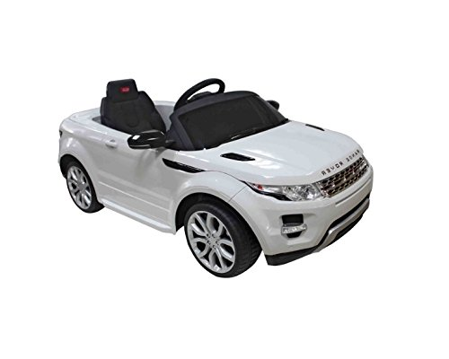 White 12V Land Rover Kids Electric Ride On Car with MP3 and Remote (Sit In Remote Control Car)