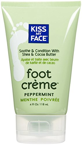 Kiss My Face Foot Creme - Peppermint, Shea (Face Organic Foot Creme)