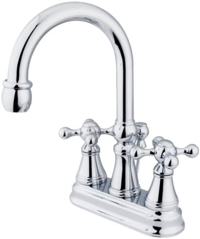 B000F63FOM Kingston Brass KS2611KX Governor 4-Inch Centerset Lavatory Faucet with Brass Pop-Up with Knight Cross Handle, Polished Chrome 41MmrNO3g2L