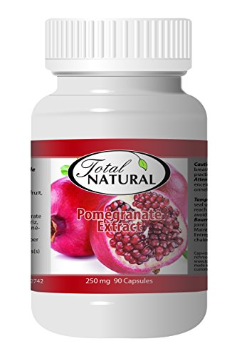 Pomegranate Extract 250mg 90c - [12 bottles] Kidney Care by Total Natural