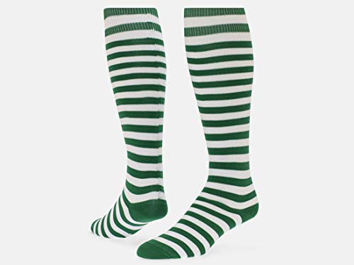 Red Lion Mini Hoop Knee-high Sock (Kelly Green/White - Large)