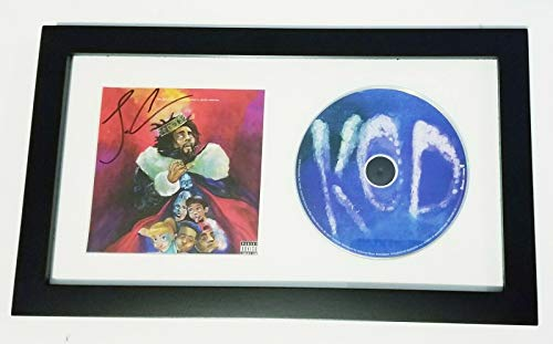J. Cole J Cole rapper REAL hand SIGNED KOD CD Framed Display COA w/PROOF