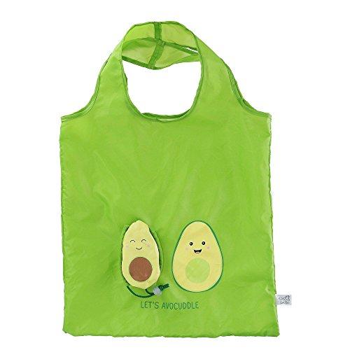 Sass & Belle Foldable Compact Reusable Shopping Bag, Avocado