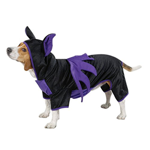 Pet Bat Wings (Casual Canine Polyester Bat Dog Costume, Small, 12-Inch)