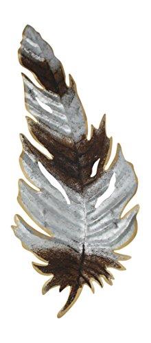 Midwest CBK Galvanized Feather Wall Decor (Decor Galvanized Metal Wall)