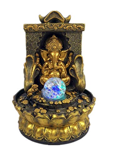 Feng Water Shui (EFK-II Supply Elephant God Ganesha Lucky Water Fountain Ornaments Feng Shui Craft Indoor Desktop Fountain)