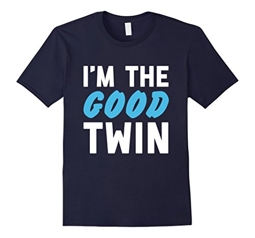 Mens Im The Good Twin | Funny Couples Halloween Costume 2XL Navy